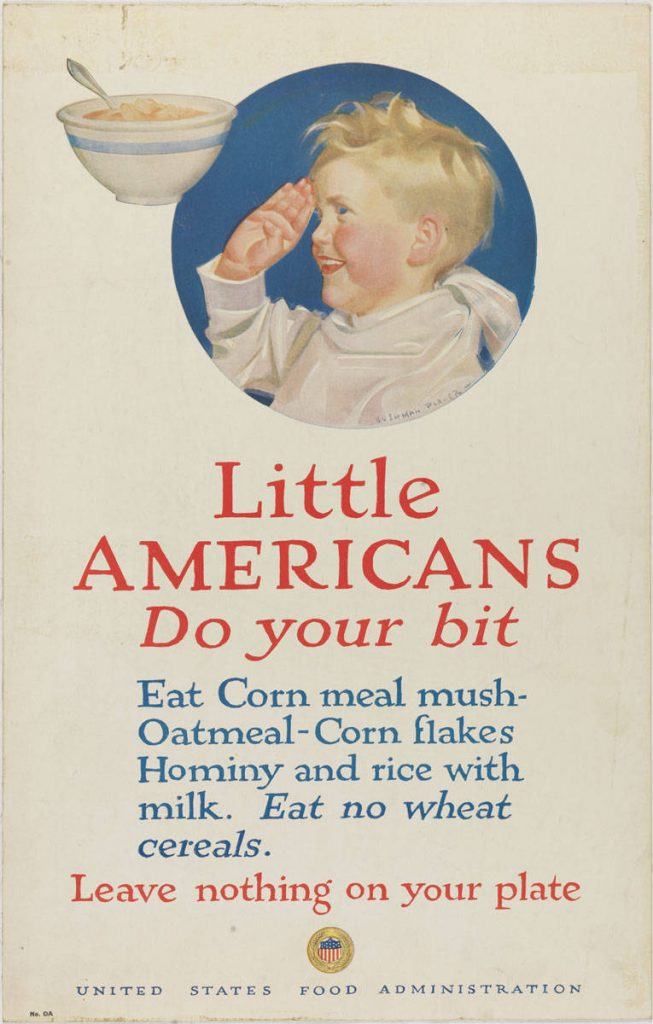 Cushman Parker, Little Americans, Do Your Bit (United States: United States Food Administration, 1917). Color lithograph.