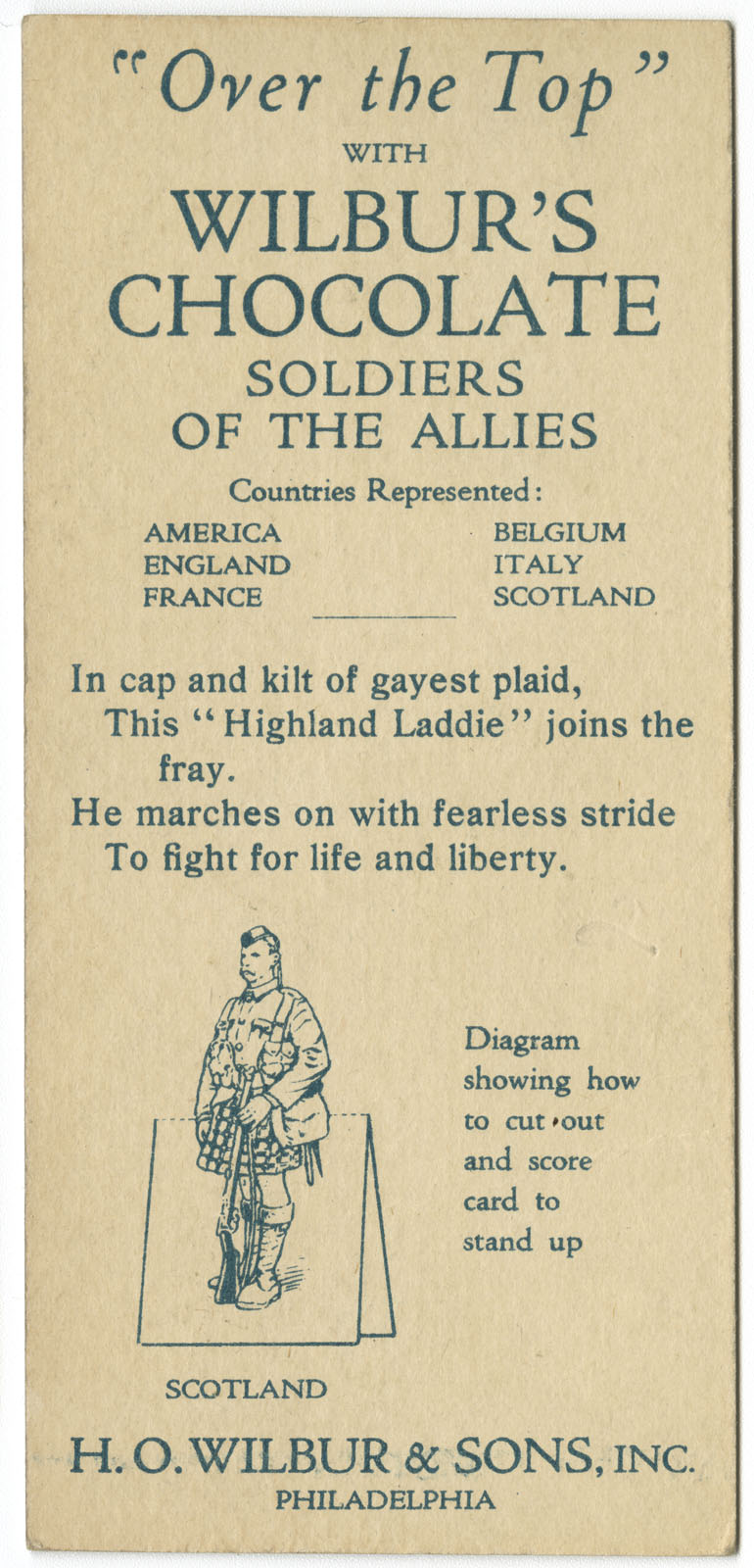 Soldiers of the Allies paper dolls. Color letterpress, ca. 1918.