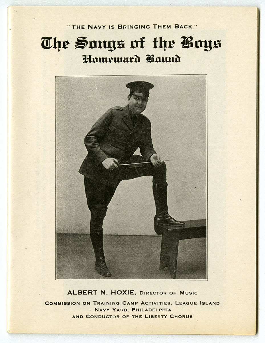 The Songs of the Boys songbook, 1919. Loan courtesy of the Historical Society of Pennsylvania.