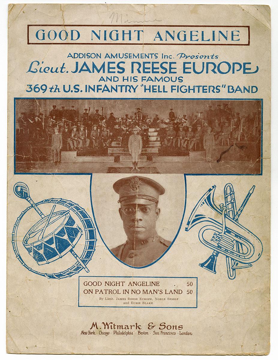 James Reese Europe, Noble Sissle and Eubie Blake, Goodnight Angeline (New York: M. Witmark & Sons, 1919). Gift of Cordelia H. Brown, Mary Hinkson Jackson, and Georgine E. Willis.
