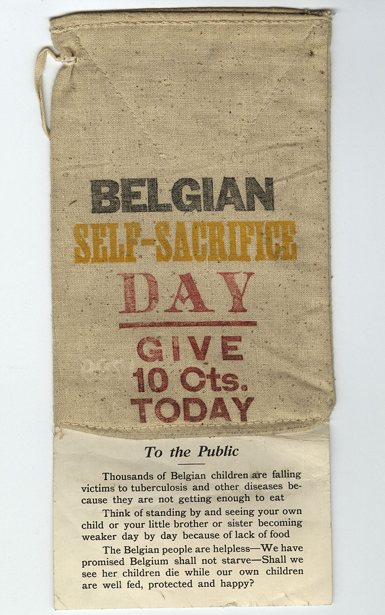 Belgian Self-Sacrifice Day (1915). Loan courtesy of the Historical Society of Pennsylvania.