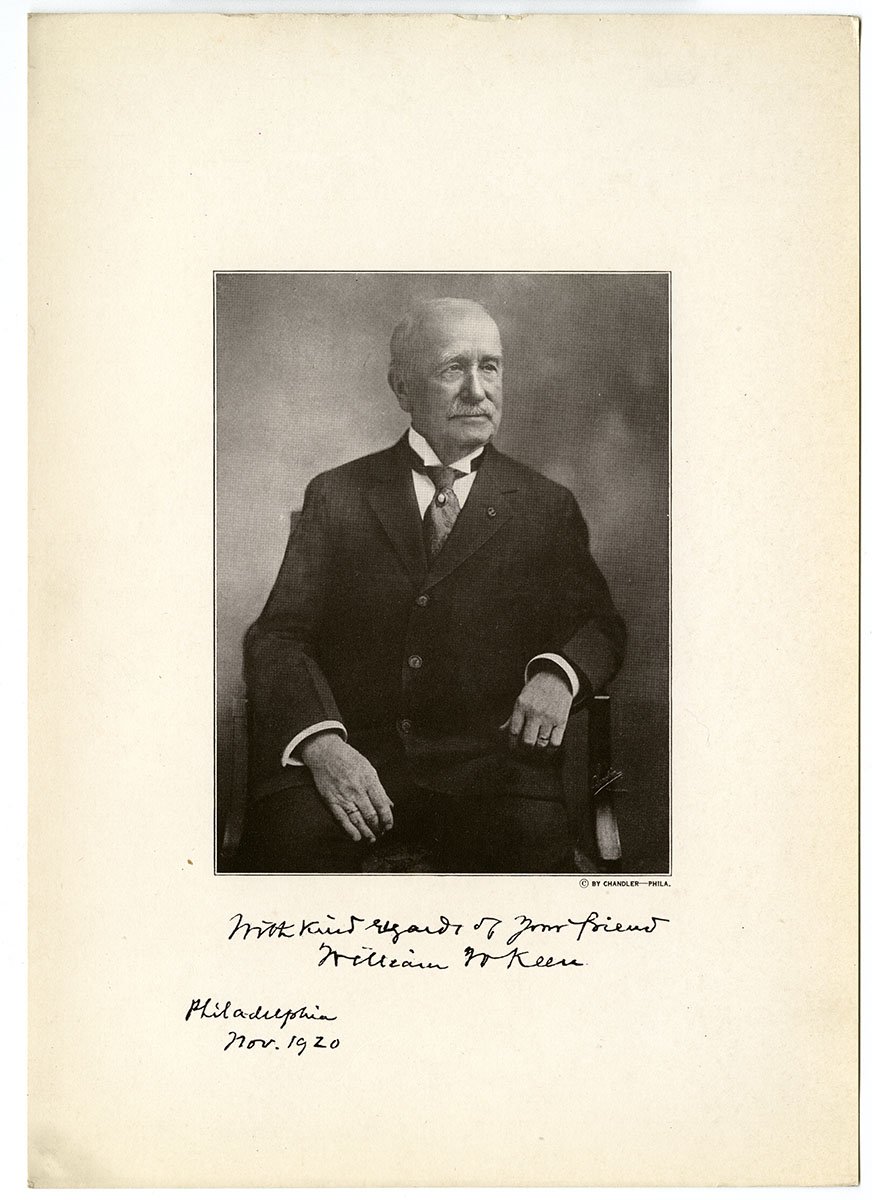 Portrait of William W. Keen (Philadelphia, 1920).