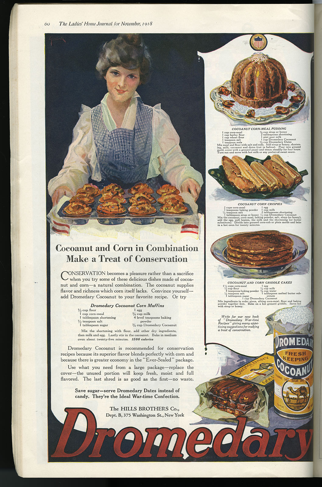 The Ladies' Home Journal (October and December 1917; June and November 1918). Loan courtesy of Linda August.