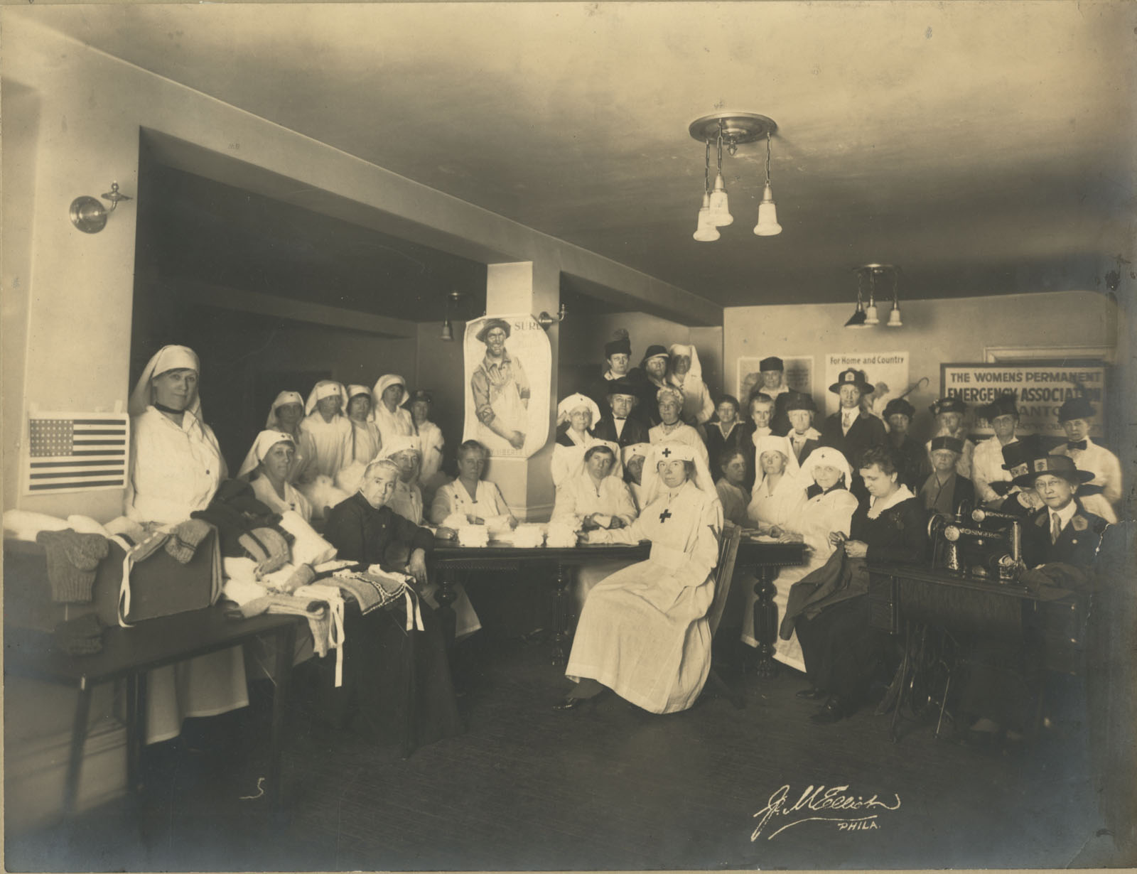 M. Elliot, [The Women's Permanent Emergency Association of Germantown], ca. 1919. Gelatin silver photograph.
