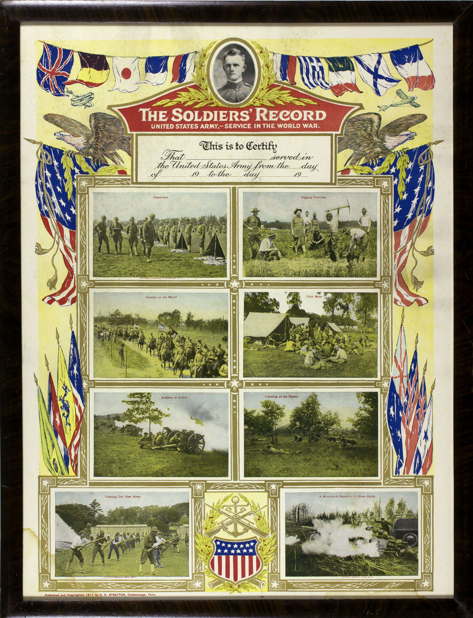 The Soldiers' Record (Chattanooga, TN, 1917). Offset color lithograph.