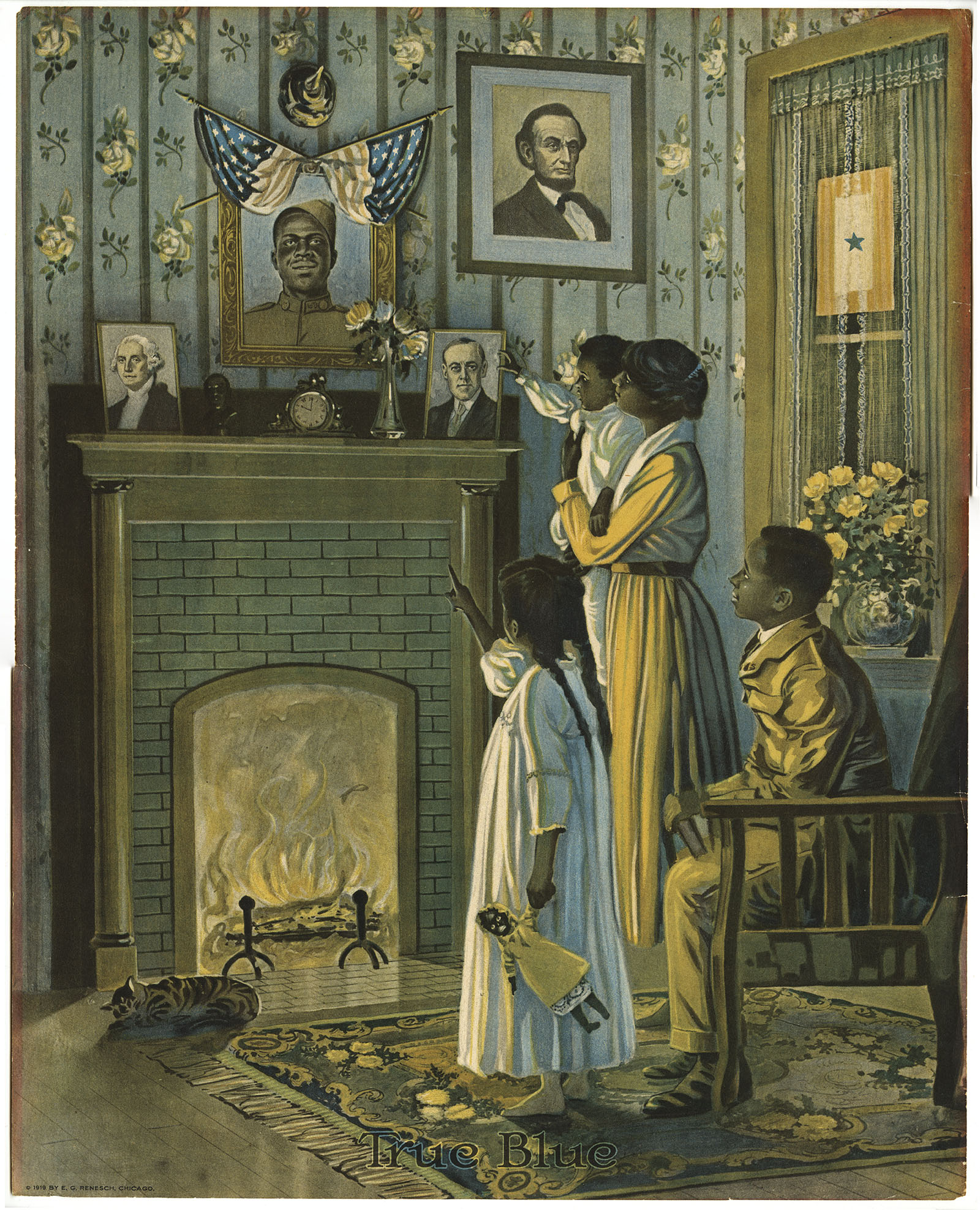 True Blue (Chicago, 1919). Color lithograph.