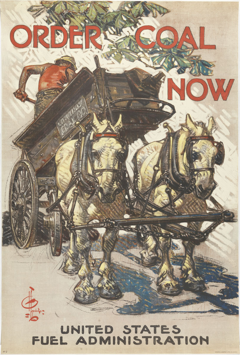 Joseph C. Leyendecker, Order Coal Now, ca. 1918.
