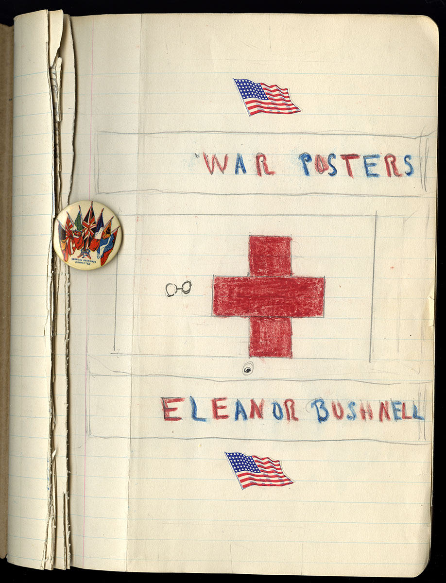 Eleanor R. Bushnell, Patriotic Scrapbook, ca. 1919. Gift of Elizabeth P. McLean.
