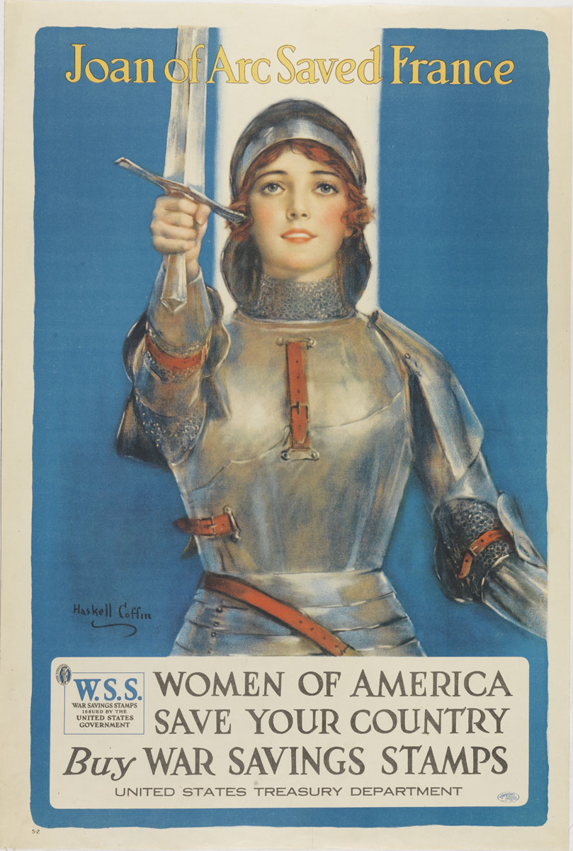 Haskell Coffin, Joan of Arc Saved France, (United States, ca. 1918). Color lithograph.