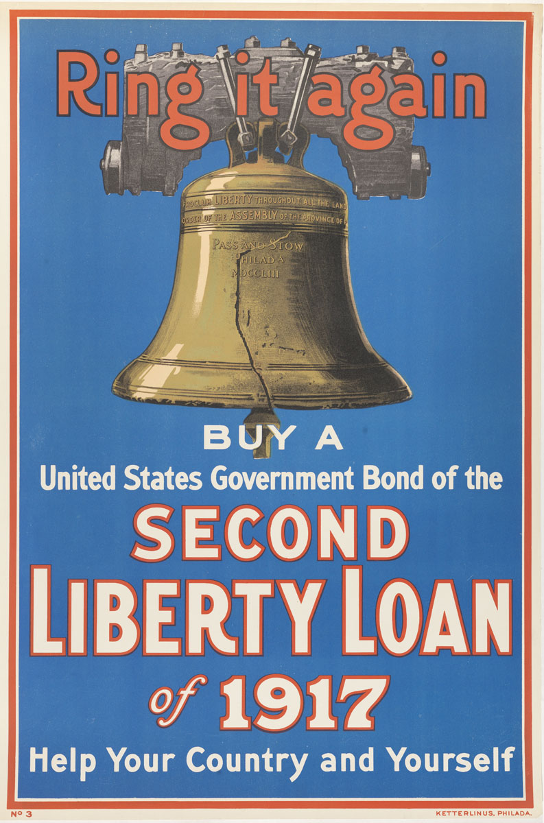 Ring It Again, Buy a United States Government Bond, (United States, 1917). Color lithograph.