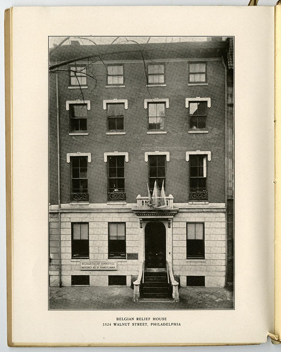 Report of the Belgian Committee of the Emergency Aid of Pennsylvania (Philadelphia, 1920). Loan courtesy of the Historical Society of Pennsylvania.