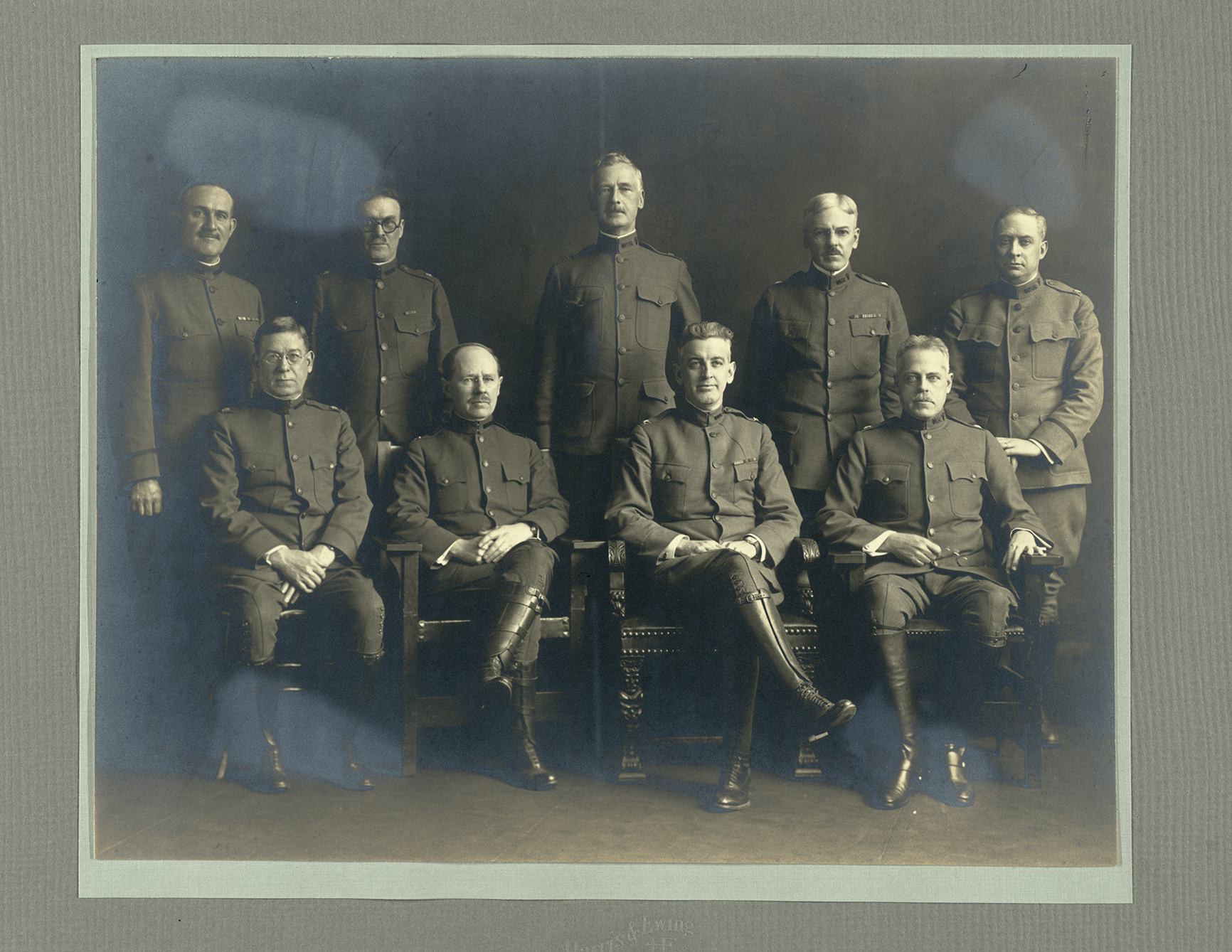 Group portrait with George de Schweinitz (Third person standing in the back row). Reproduction courtesy of the College of Physicians of Philadelphia.
