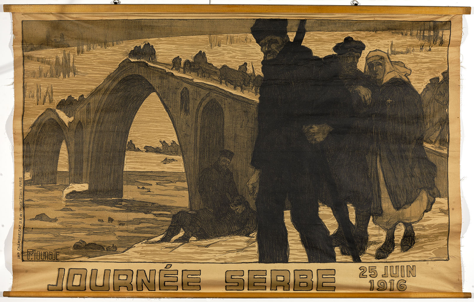 P. Mourgue, Journée Serbe, 25 Juin 1916 (Paris, 1916). Color lithograph. Gift of Mrs. Franklin S. Edmonds.